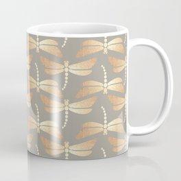 Golden Dragonflies Pattern Coffee Mug