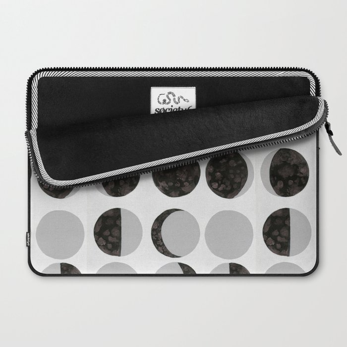 Moon Phases - White Laptop Sleeve
