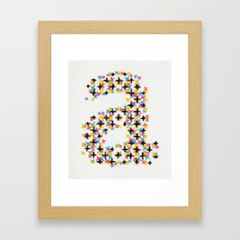 Handprinted Alphabet – a Framed Art Print
