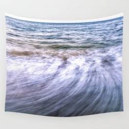 Waves and sand on the beach Wall Tapestry