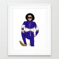 snl Framed Art Prints featuring snl Harry by believeinbritboys