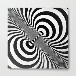 Dualism (black & white) Metal Print