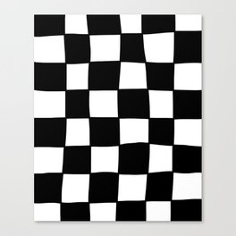 Wonky Check Canvas Print