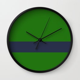 Forest green + blue - color story Wall Clock