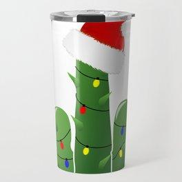 Fucktus   Christmas Cactus Flippin The Bird Travel Mug
