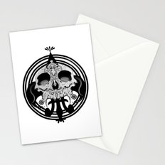 skull and pen Stationery Cards
