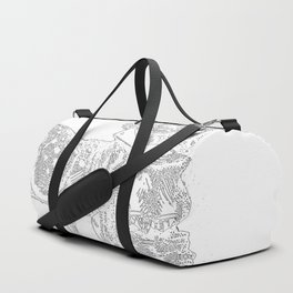 Alice and the Fawn in White Duffle Bag