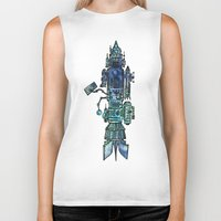 spaceship Biker Tanks featuring Spaceship  by Joseph Kennelty