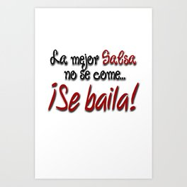 Dance Salsa! Art Print
