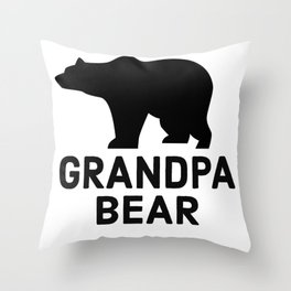 Grandpa Bear Throw Pillow