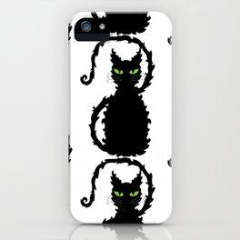 Black Cats iPhone Case