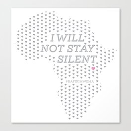 I will not stay silent by Drawn Upon Canvas Print
