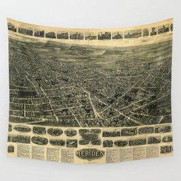 Aerial View of Meriden, Connecticut (1918) Wall Tapestry