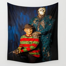 Freddy & Jason Potrait Wall Tapestry