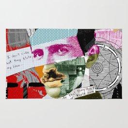 Nikola Portrait Collage Art Rug
