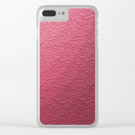 Art Pink Patern Clear iPhone Case