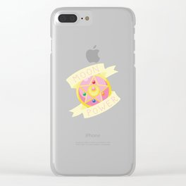 Moon Power Clear iPhone Case