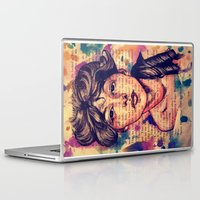 agnes cecile Laptop & iPad Skins featuring Agnes Mackenzie by Olga Noes
