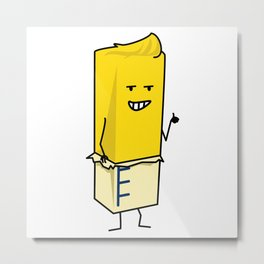 Buttered Buttery Stick of Butter Happy Thumbs Up Metal Print