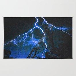 Blue Lightning Rug