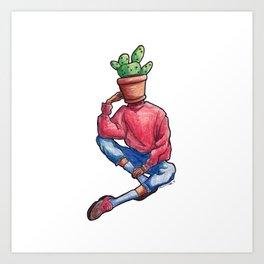 Pothead: Prickly Pear Cactus Art Print