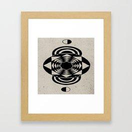 Octagonal Illusion Framed Art Print