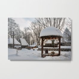 Pastoral winter scene Metal Print