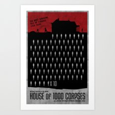House of 1000 Corpses  Art Print