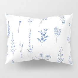 Wildflowers in blue Pillow Sham
