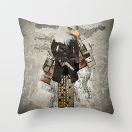Secret Agent Eagle One Throw Pillow