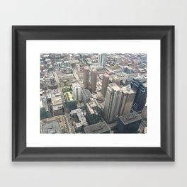 On Top of Chicago Framed Art Print