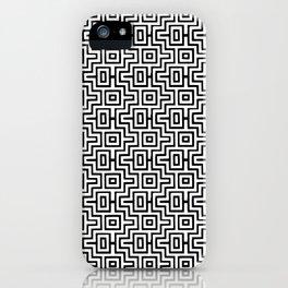 Black & White Choctaw Pattern iPhone Case