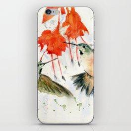 Hummingbird Watercolor iPhone Skin
