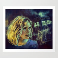 Rose Tyler as Bad Wolf - Doctor Who Art Print