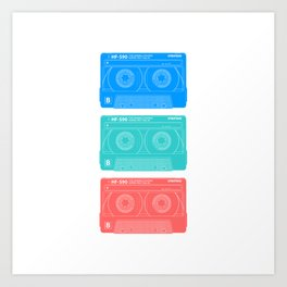 Cassette old school music Art Print