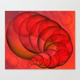 Sphere Worm Canvas Print