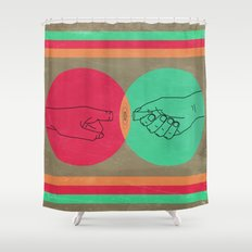 Pull your finger out  Shower Curtain