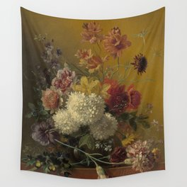 Georgius Jacobus Johannes van Os - Still life with flowers - 1820-1861 Wall Tapestry