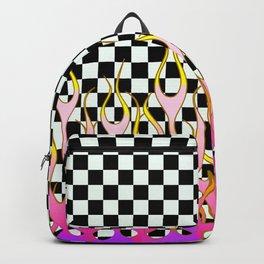 PURPLE&PINK FLAMES Backpack
