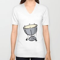 drum V-neck T-shirts featuring Timpani Drum by shopaholic chick