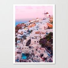 Oia town Santorini Canvas Print
