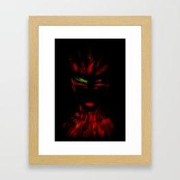Red Phoenix Framed Art Print
