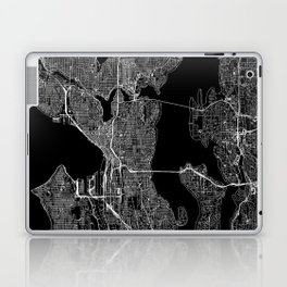 Seattle Black Map Laptop & iPad Skin