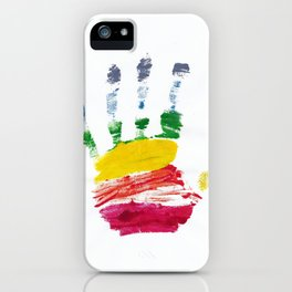 Pride Hand Print iPhone Case