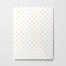 Small Polka Dots - Champagne Orange on White Metal Print