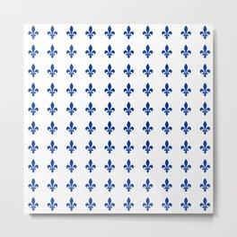 Blue Fleur De Lis Print Metal Print