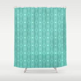Aqua Metallic Gossamer Web Digital Art Shower Curtain