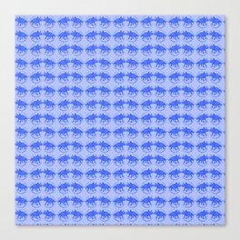 Blue Dinosaur Triceratops Pattern Ultra High Definition Canvas Print