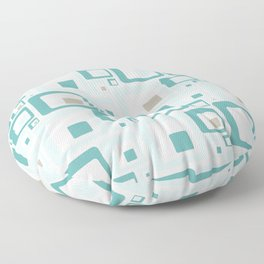 Retro Squares Mid Century Modern Background Floor Pillow