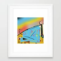 cows Framed Art Prints featuring Cows by Zmudart